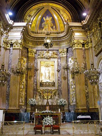 Алтарь церкви Богоматери Милосердия