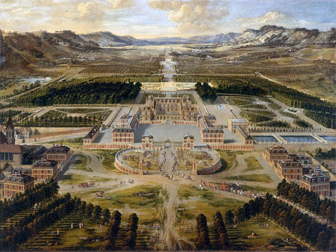 Общий вид дворца Версаль