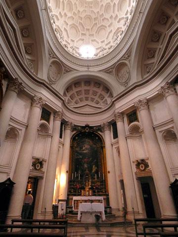 Интерьер церкви св. Карла у четырёх фонтанов