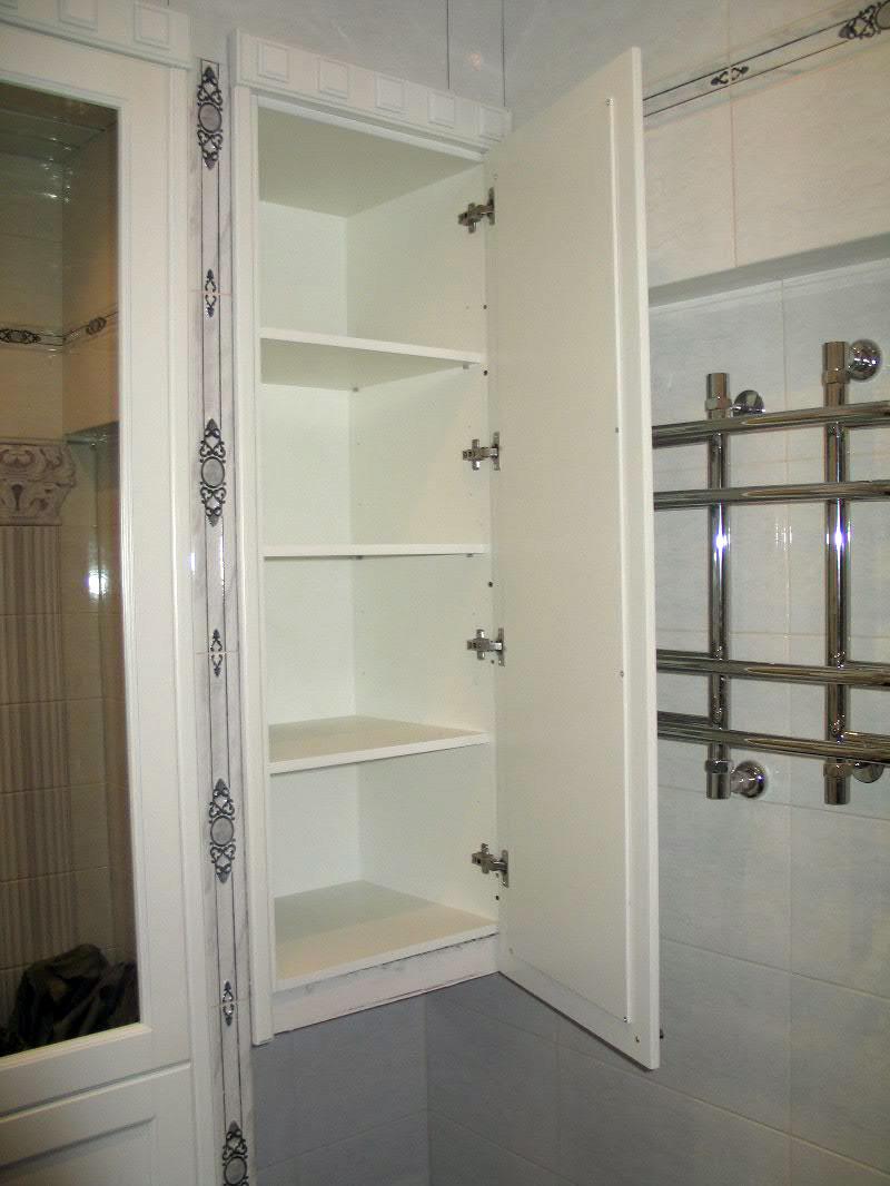 Встроенный шкаф в ванной фото